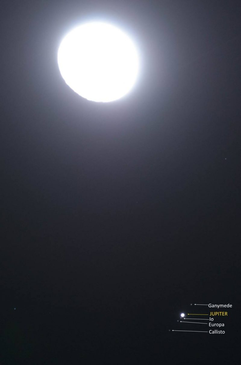 Moon To Moon Moroccan Home: Last Night's Moon And Jupiter