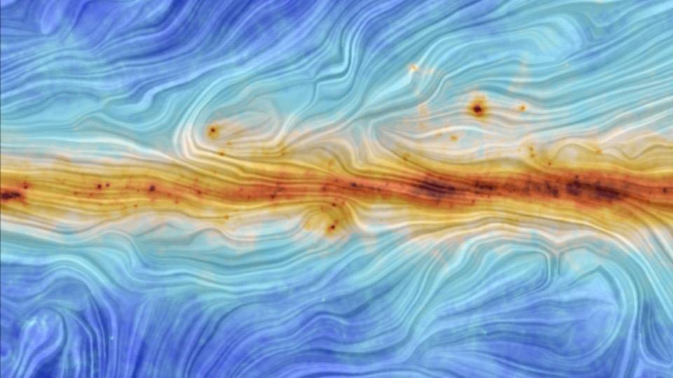 A giant magnetic bridge between galaxies