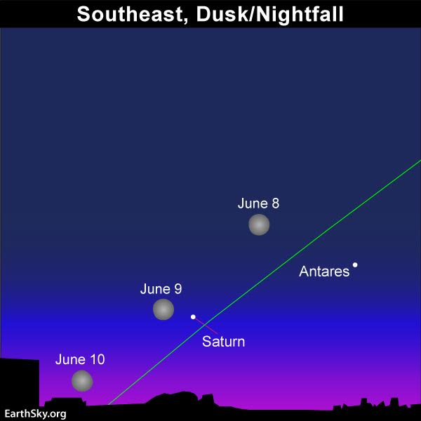 Full Moon Saturn All Night June 27 28 Tonight Earthsky