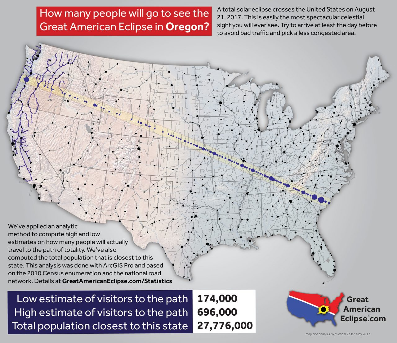 National Traffic Map.How Much Traffic On Eclipse Day Astronomy Essentials Earthsky