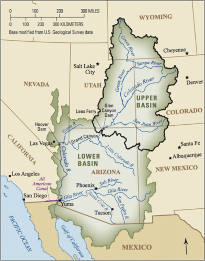 Climate Change Shrinking Colorado River Earth EarthSky - Us map colorado river