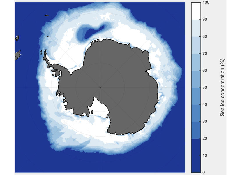 Openings in Antarctic sea ice influence global climate