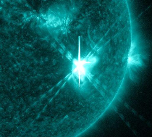 Giant sunspots, solar flares, aurora alert!
