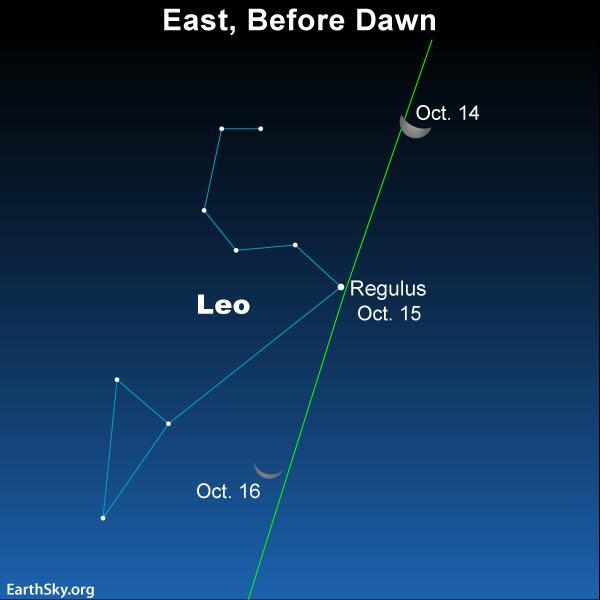 Tonight EarthSky - Star sky map over eastern us