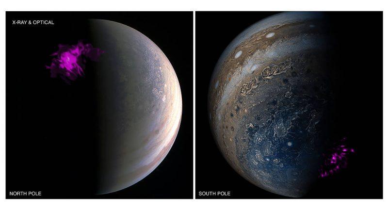 Jupiter's independently pulsating auroras