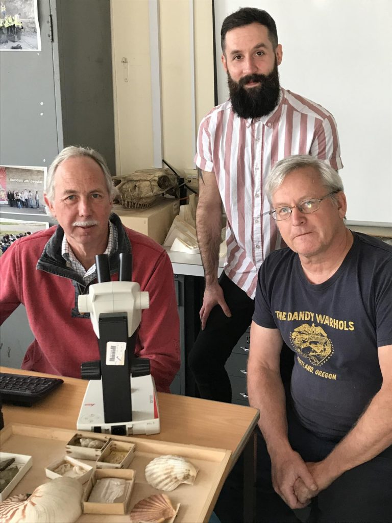 From left to right, Steve Sweetman, Grant Smith and Dave Martill. Image courtesy of University of Portsmouth.