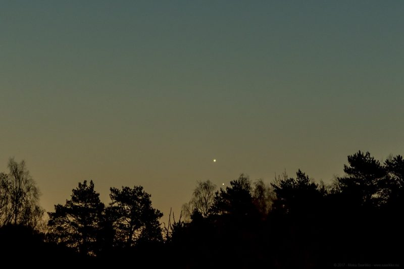 Venus and Jupiter will appear together in the sky
