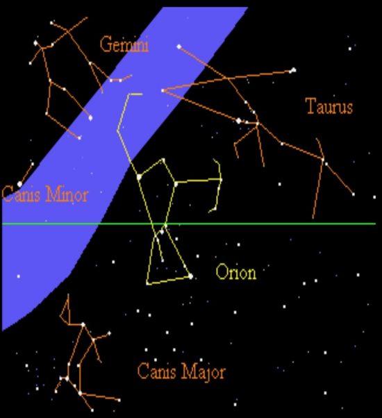 orion s belt and the celestial bridge tonight earthsky