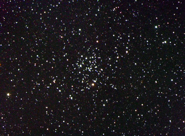 Star field with loose group of stars in the middle.