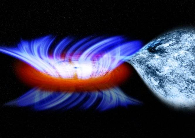 Research shows black holes push away their dinners