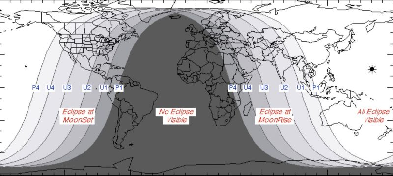January 31 Lunar Eclipse Map.Super Blue Moon Eclipse On January 31 Sky Archive Earthsky