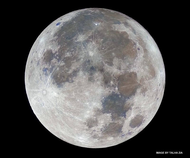 Photo, big full moon.