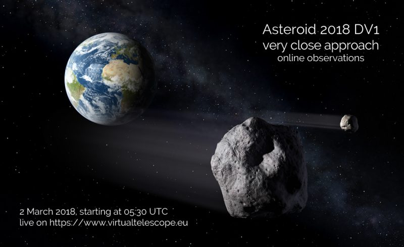 Bus-Sized 2018 DV1 Asteroid Will Fly By Earth On Friday
