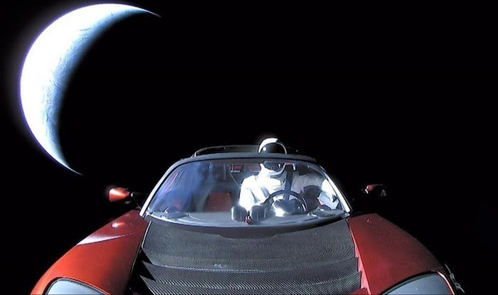 Where is Elon Musk's car going?