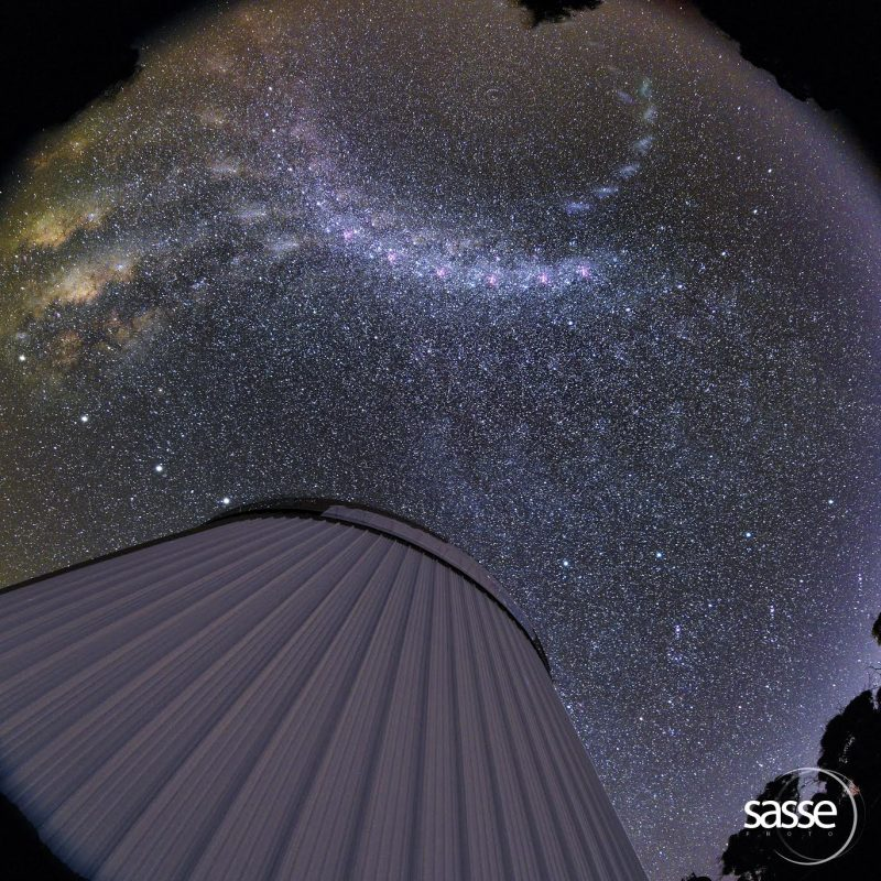 Milky Way spins across the sky