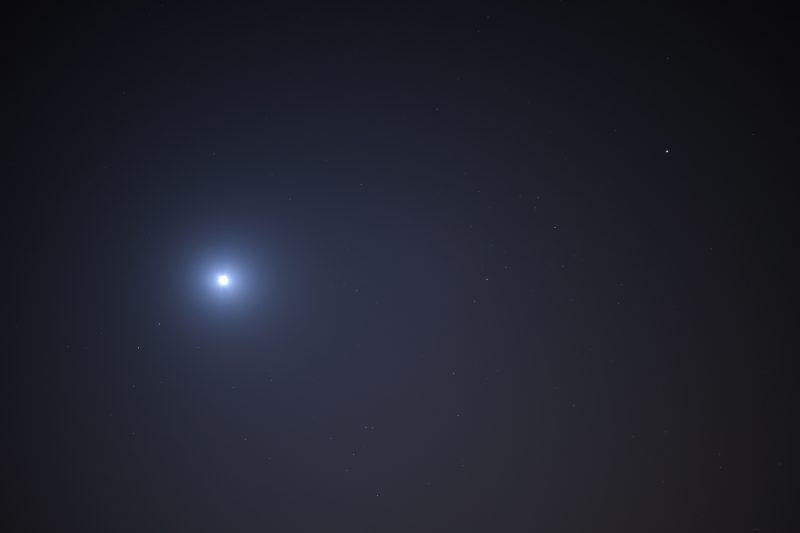 moon near Mars and Saturn