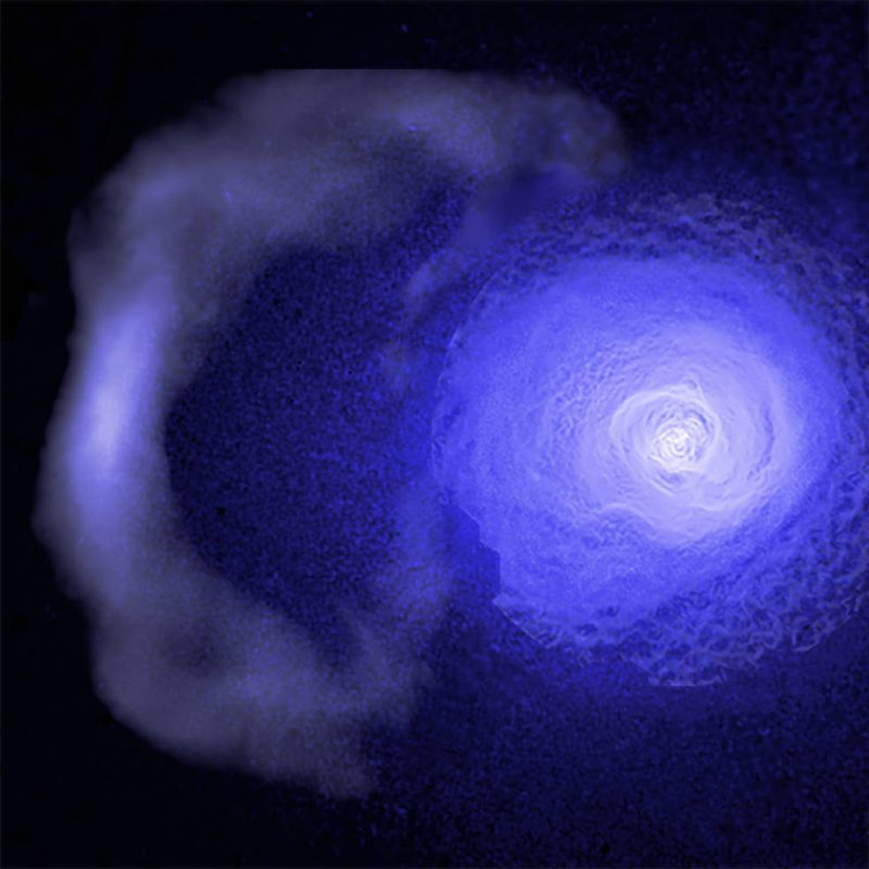 gigantic wave of gas hurtling through Perseus galaxy cluster studied with Chandra X-ray observatory