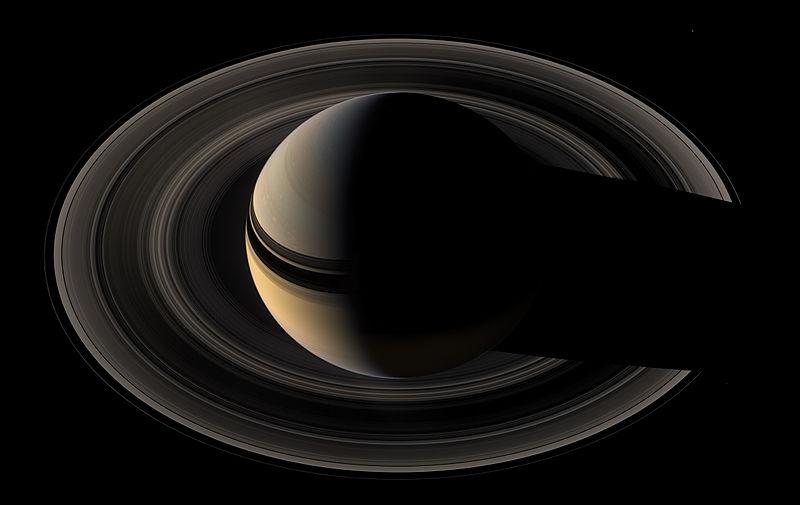 Underside of Saturn's rings.