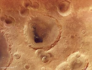 Image result for Fly over a Mars crater