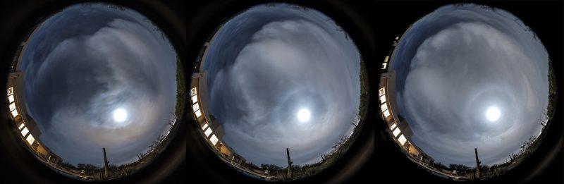 lunar halo emerges