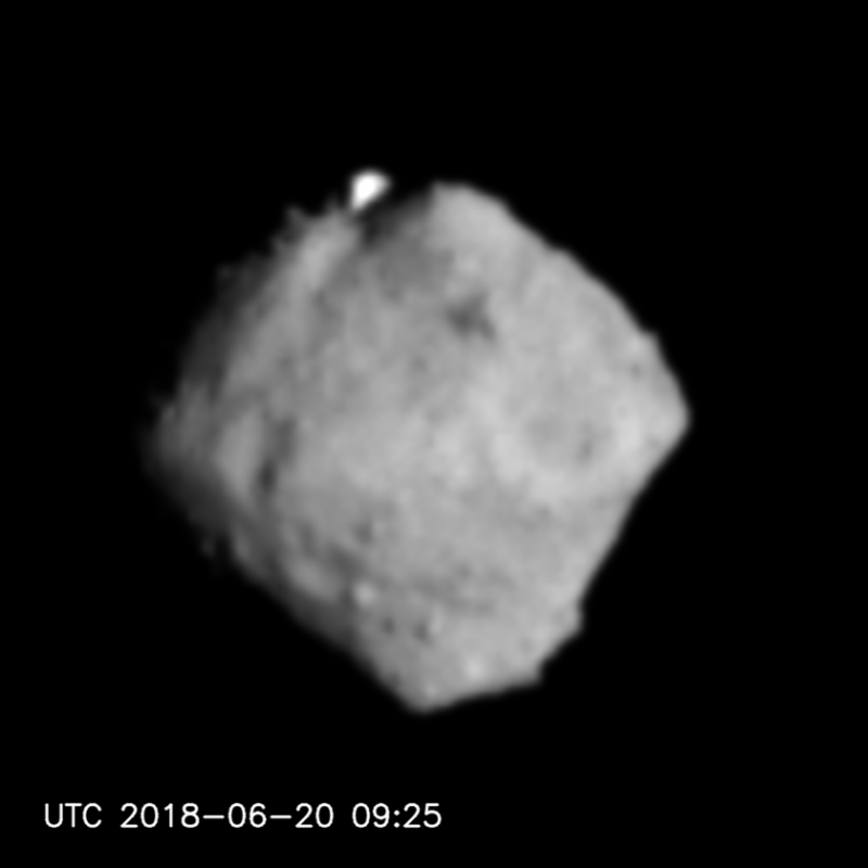 Hayabusa-2 began to approach the asteroid Ryugu