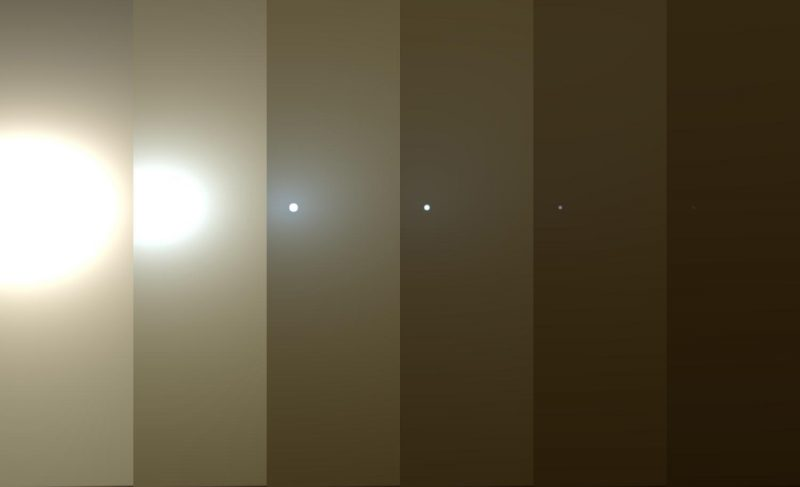 NASA's Curiosity rover captures images of Martian dust storm - Martian dust storm