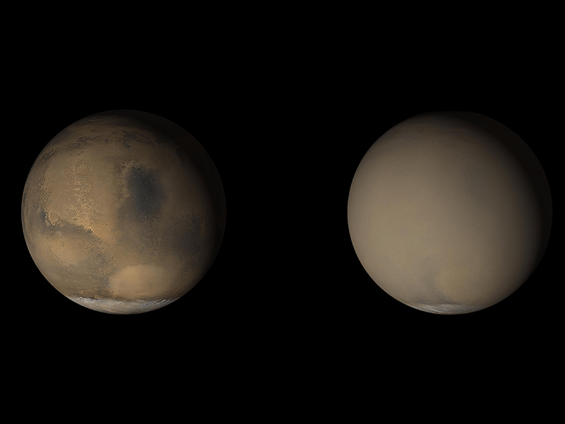 NASA Mars Rover captures incredible selfie as dust storm sweeps Red Planet