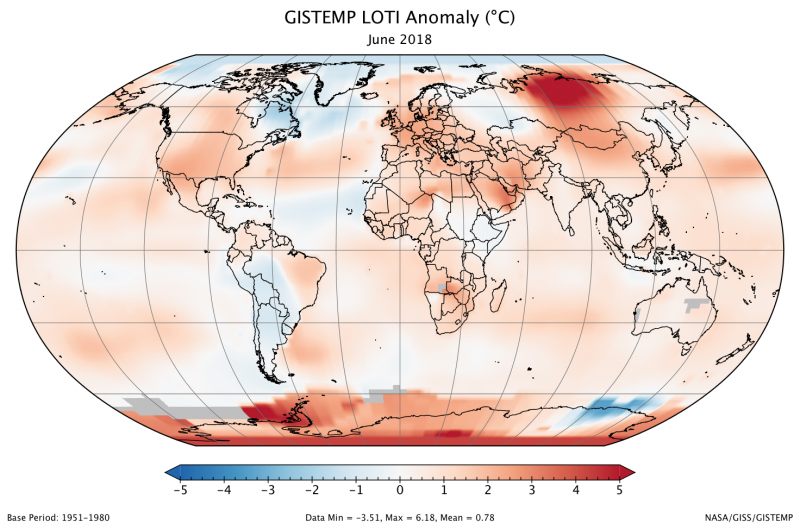 June 2018 ties for 3rd-warmest June on record