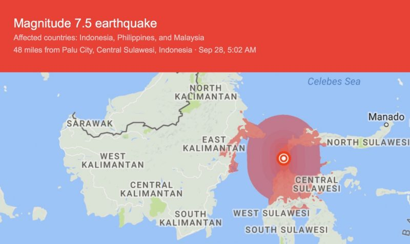 Dead, Hundreds Injured in Indonesia Quake-Tsunami