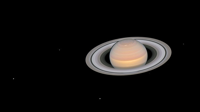 Heres how hubble sees saturn space earthsky june 6 2018 composite image of saturn and its moons via esahubble altavistaventures Images