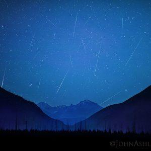 2018 Orionid meteor composite.