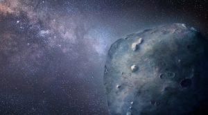 Artist's image of asteroid 3200 Phaethon.