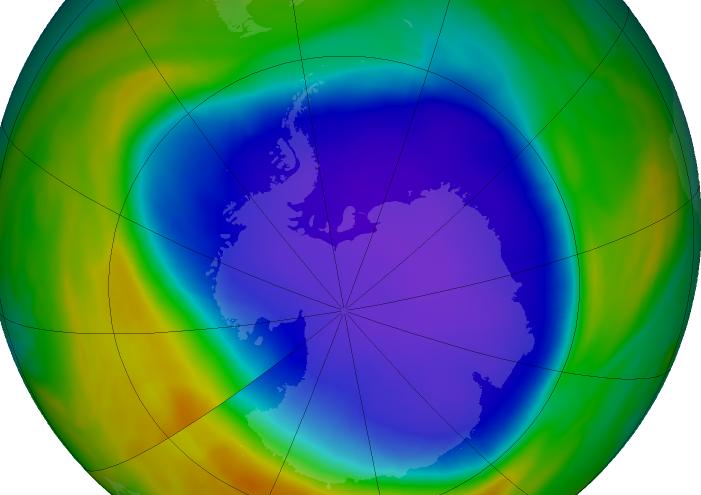 2018 ozone hole slightly above average