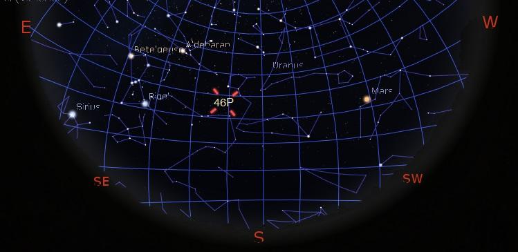 How to see Comet 46P/Wirtanen - The Christmas Comet 46PenteringGeoSatsBelt