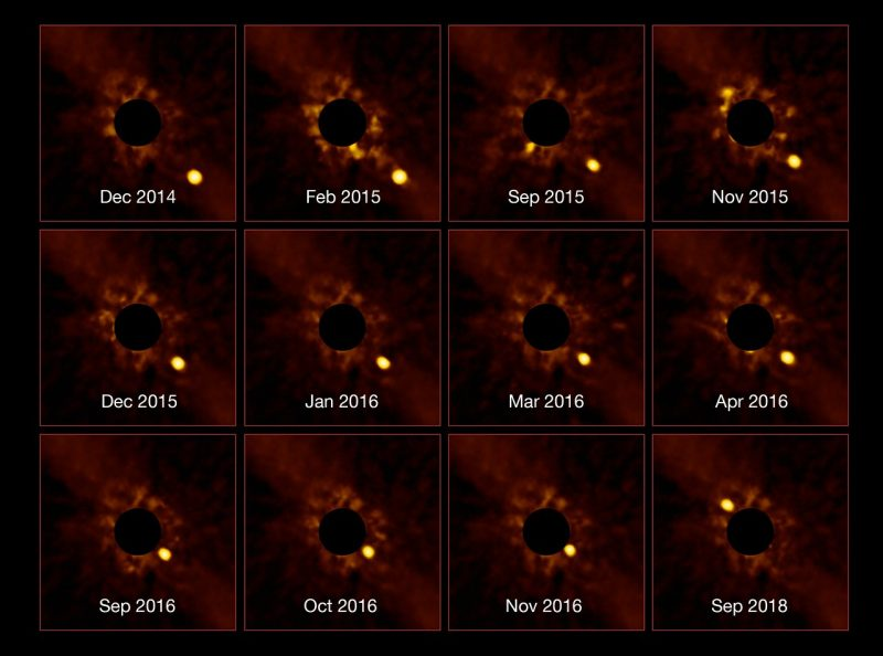 Wow! Amazing timelapse of Beta Pictoris b | Space | EarthSky