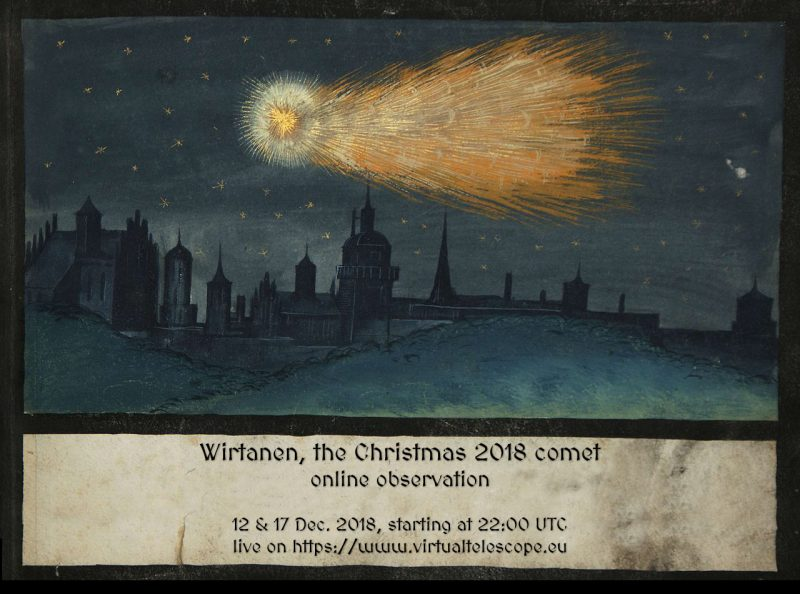 How to see Comet 46P/Wirtanen - The Christmas Comet Wirtanen-2018-online-observation-poster-Virtual-Telescope-e1541672165615
