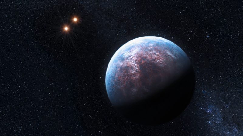 Artist's conception of the super-Earth exoplanet Gliese 667 C