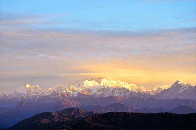 Himalayas at sunrise