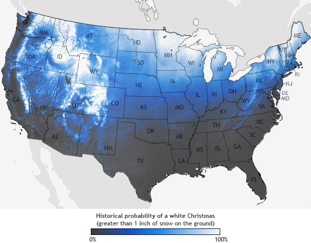 Chances Of A White Christmas 2020 What are your chances for a white Christmas? | Earth | EarthSky
