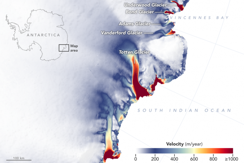 map of East Coast of Antarctica