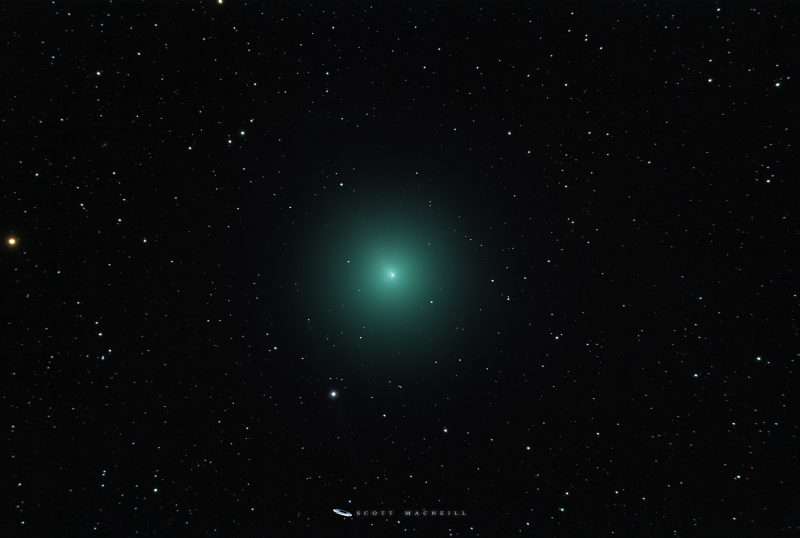 comet Wirtanen - large green fuzzy spot