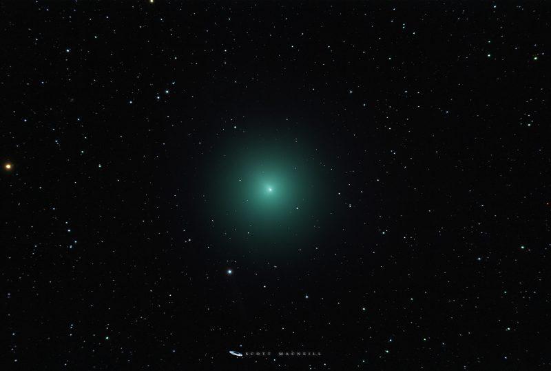 comet Wirtanen - large green fuzzy spot