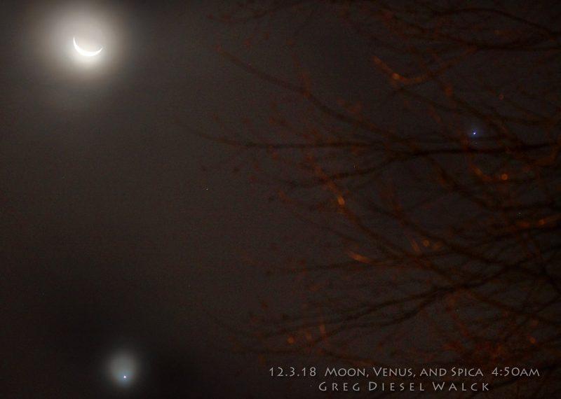See it! Moon and Venus close