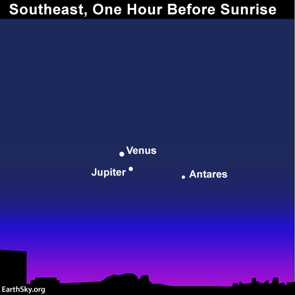 Venus-Jupiter conjunction on January 22 | Tonight | EarthSky