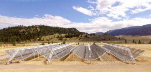 Canada's CHIME radio telescope in the Okanagan Valley, British Columbia.