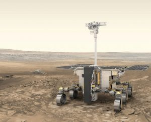 Illustration of the upcoming ExoMars rover, scheduled to launch in 2020.