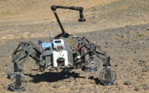 Another view of the U.K.'s test rover Sherpa.