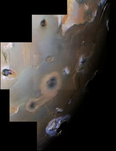 Volcanic plains near Io's south pole