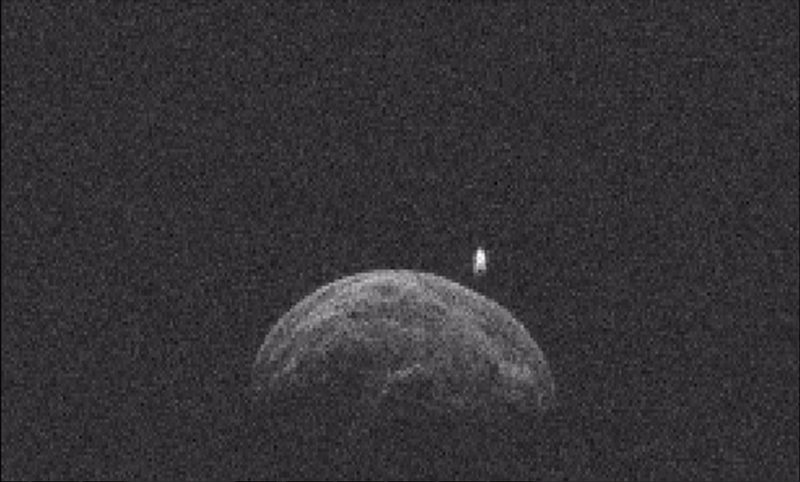 Asteroid 2004 BL86 with its moon.