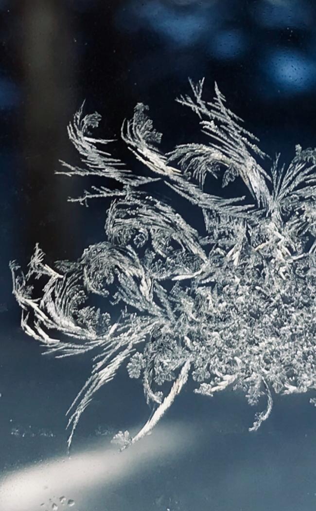 A swirly frost pattern.